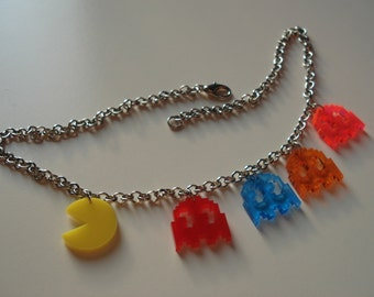 Pac Man Inspired Necklace