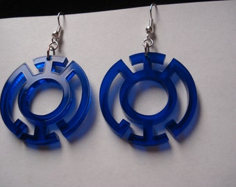 Blue or Yellow Lantern Inspired Earrings