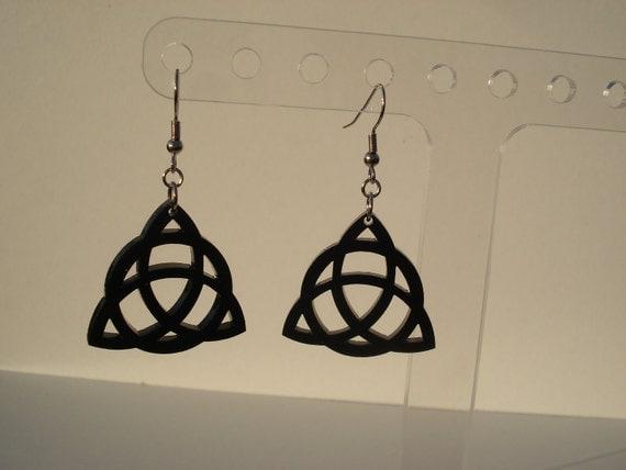 Triquetra Circle Acrylic Earrings