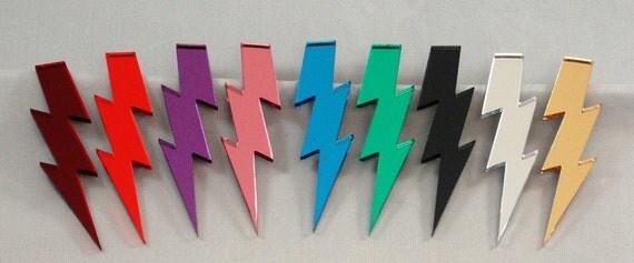 """3"""" Glam Style Lightning Bolt Earrings"""