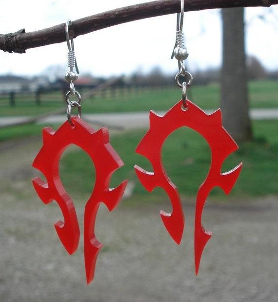 World of Warcraft - Horde Logo Inspired Acrylic Earrings