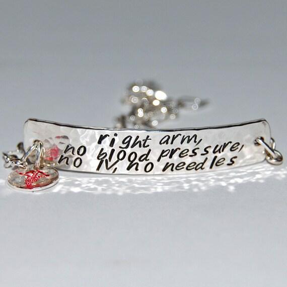 Silver Medical Alert Bracelet Wide Version By Thesilverartisan