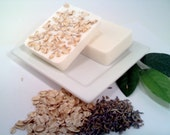 Scrubby Organic Oatmeal Lavender Bar Soap - Vegan Friendly - Natural Essential Oil - Gentle Exfoliation