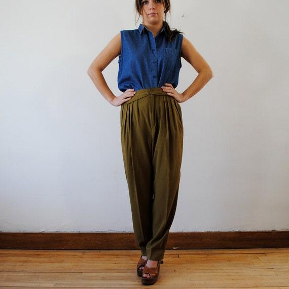 vintage pants / high waist trousers (m-l)