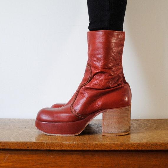 vintage boots / platforms  (size 10.5)