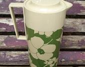 Vintage Green Floral Aladdin Beverage Butler