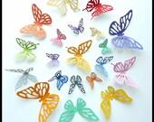3D Wall Butterflies - 50 Colorful Butterflies for Nursery, Home Decor