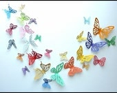 3D Wall Butterfly - 60 Colorful Butterflies for Nursery, Wedding, Home Decor