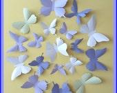 3D Wall Butterflies - 15 Lavender, Lilac Purple, Tea Green, Pink White,  Butterfly Silhouettes, Nursery, Home Decor, Wedding Decor