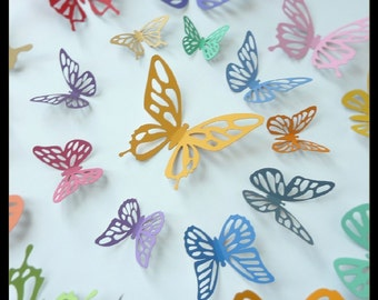 3D Wall Butterflies - 15 Colorful Butterflies for Decorate Nursery
