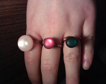 Beckoning Buttons Rings