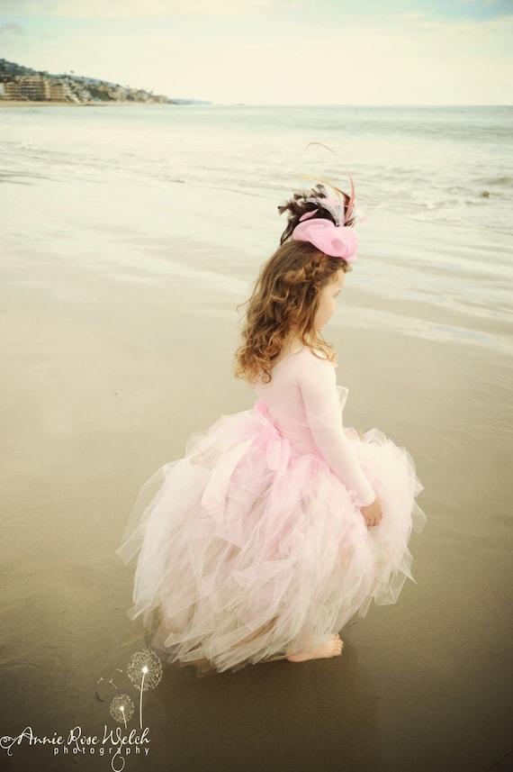Soft Pink Natural Tones Three Tier Layered Petti Tutu for Girls Birthday, Weddings, Bridal, Flowergirls, Pageants