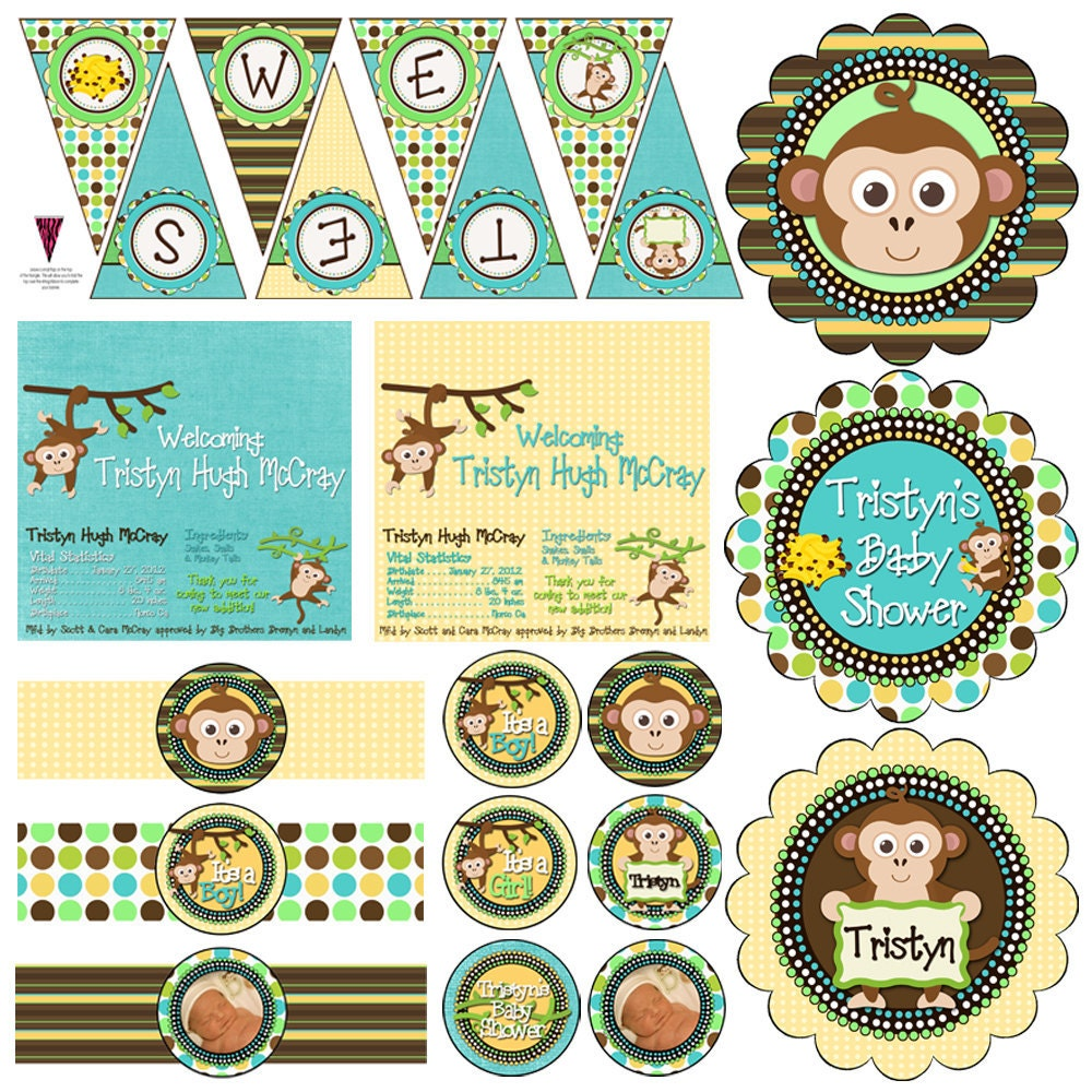 Popular items for monkey decorations on Etsy