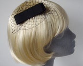 Black Bow  Hair Comb- Black Bow  Haircomb