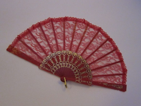 Wedding Red Hand Fan