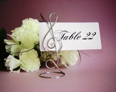 Treble Clef Table Number Holders 6