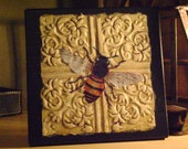 Take flight Bee accent Wall Plaque art