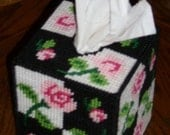 Pink Rose Tissue Box Cover FREE SHIPING USA