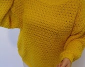 Anything-But-Mellow Yellow Slouchy Cotton Sweater