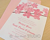 Reserved Listing for Jennifer - Cherry Blossoms Bridal Shower Invitations and Cherry Blossoms Thank You Notes