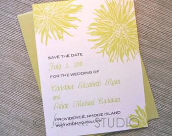 Save the Date Wedding Card, Dahlias