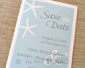 Save the Date Wedding Card, Starfish