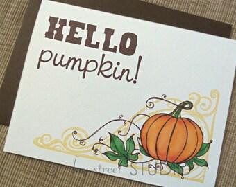 Pumpkin Blank Notecard Set, 10-Count