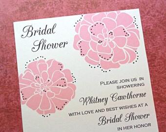 Bridal Shower Invitations / Wedding Shower Invitations, Garden Wedding, Marigolds, 10-Count