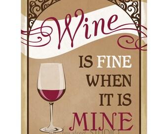 Wine Art Print, 8x10