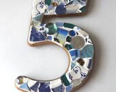 Mosaic House Numbers - ONE DIGIT Order