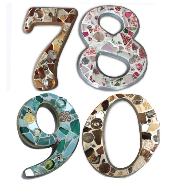 Mosaic House Numbers- FOUR DIGIT Order