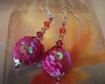 FUSCHIA PINK EARRINGS
