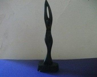 small EBONY figurine, Art Deco-style, vintage