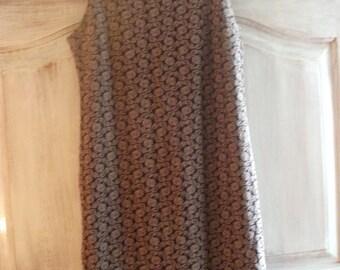 VINTAGE DRESS, SHIFT style, cocktail, 1960s, Mad Men style, burgundy, brocade pattern, embossed