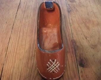 VINTAGE SHOE ASHTRAY, ceramic, Portuguese