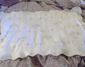 HUGE matelasse, pillow case, cushion cover, FRENCH PROVENÇAL, cream, taupe,100 x 60 cm