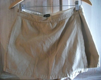 """s.a.l.e-VINTAGE COTTON SKORT, shorts and skirt combo, French, pure cotton, 29"""" waist"""