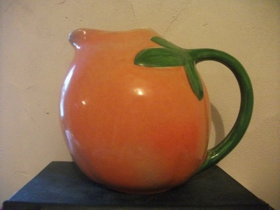 VINTAGE ORANGE JUG, kitsch, Portuguese