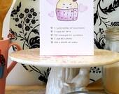 cupcake new baby girl greeting card