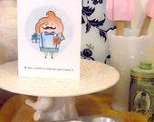 cupcake gentleman birthday card