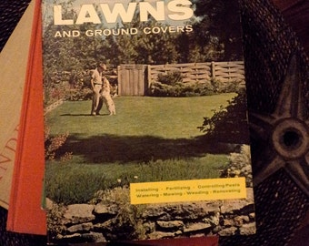 Sunset Book Lawns and Ground Covers vintage instructional manual how-to 1964