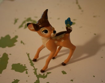 Vintage Toy Bambi and Butterfly Disney McDonalds Plastic Figural Figurine Collectible Memorabilia Limited Edition 1988