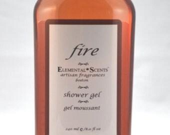 FIRE Shower & Bath Gel - 250 ml/8.0 oz