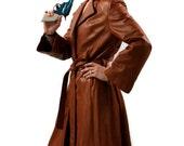 Vintage Leather Coat in Caramel Brown