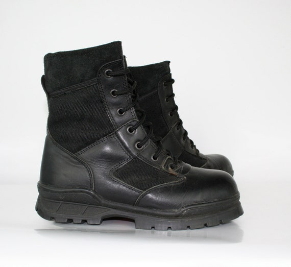 Vintage Black Combat Boots Womens Thorogood 7and a half