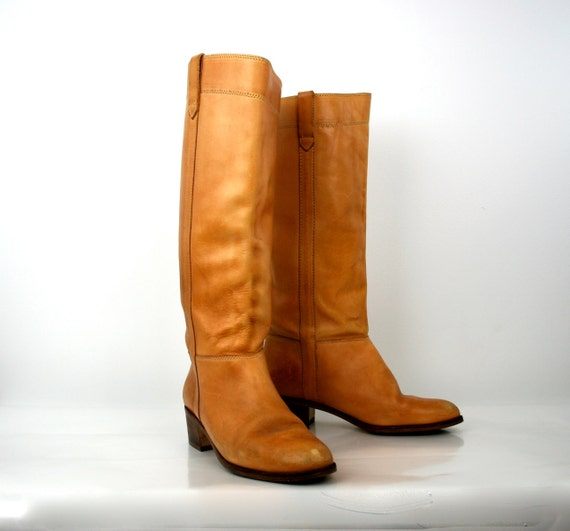 Vintage Boots in Honey Brown 1980s