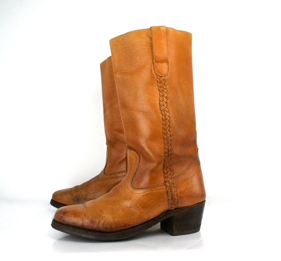 Vintage Cowboy Boots in Honey Almond by Honchos