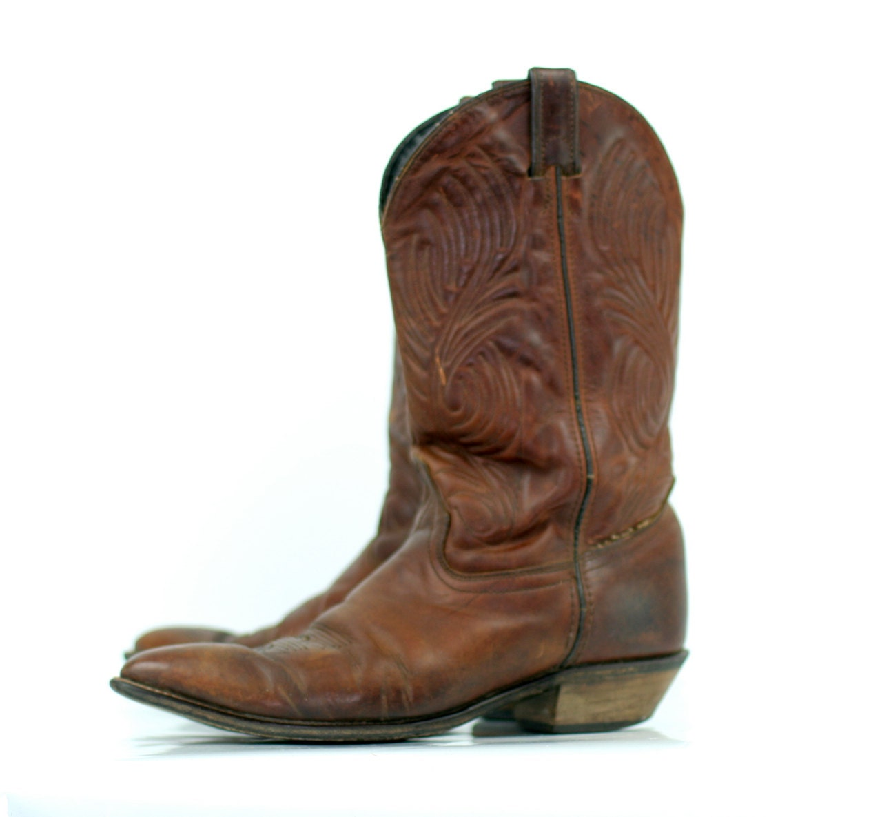 Vintage Cowboy Boots in Chestnut Brown by Code West by xoUda