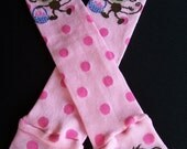 Easter Monkey Leg Warmers in monkey print perfect for babies and girls