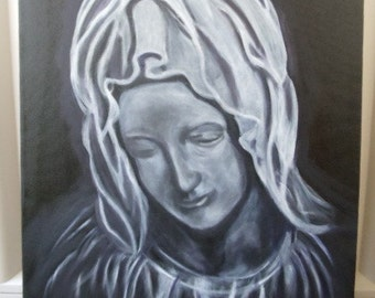 """Black and White Portrait of Mary - 18"""" X 24"""", Mary, Portrait, Black and White"""